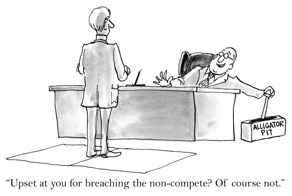 Comic of limiting the power of noncompetes.