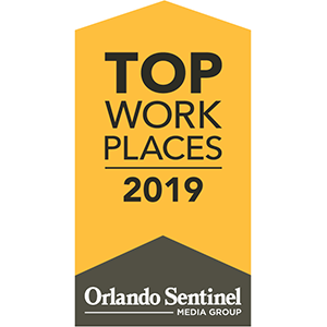 Orlando Sentinel Top Workplaces 2019 Award