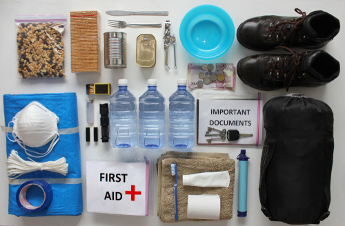 Hurricane Go Bag with emergency supplies
