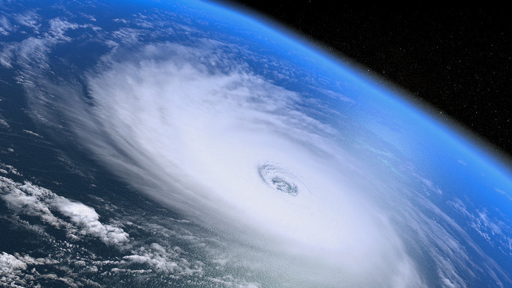 Giant,Hurricane Seen From Space